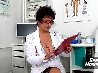 Czech chunky tits doctor Greta old young wankjob