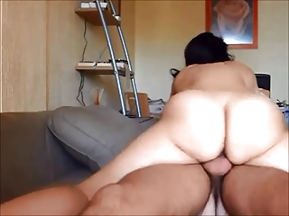 Big butt cheating wife riding cock