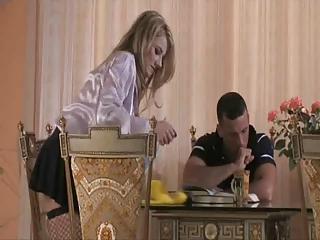 Italian blonde maid