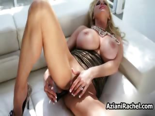 Busty blonde babe goes crazy getting her part2