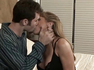 Mature Hot Mummy Concerning Young Man in Bedroom