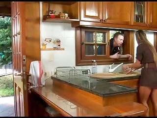Crotchety spanish housewife fucks give the caboose
