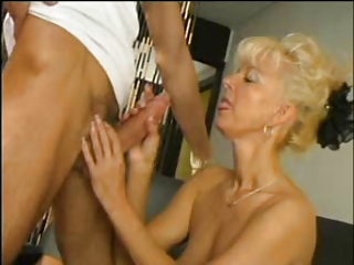 SEXY MOM 63 blonde hairy grown up with a young tramp