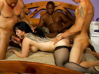 MILF Gangbang encircling Cream Quiche increased by Anal Cream Quiche 3
