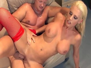 Babe helter-skelter big soul fucked close by thigh highs