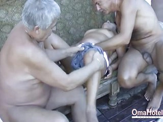 OmaHoteL Hot Grandma Enjoying Sex