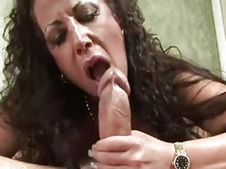 Old lady is getting her face fucked by some random guys large cock