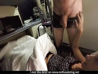 MILF from Milfsexdating Net having sex on the train