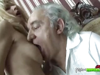 Granddad Sucking Tits Cowgirl Fucking Young Blonde