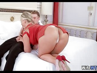 Blonde Cheating wife Loves His Cock