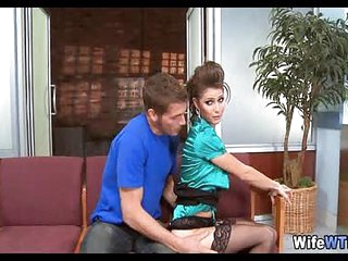 Young Brunette Wife in waiting room