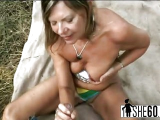 Busty ravishing MILF with tight cunt