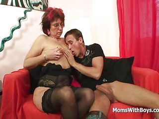 Emo Grandma Jana Pesova Fucked In Sexy Stockings From A Young Egar Cock And Balls