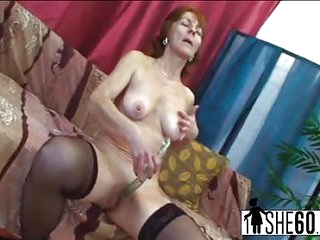 Young dick destroys granny's pussy