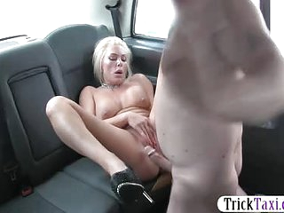 Big boobs mature gets banged in the cab to off her fare and cause she needed some D in her vag