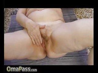OmaPasS Horny Amateur Granny Fucking Vegetable