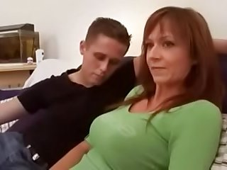 mom plays with son