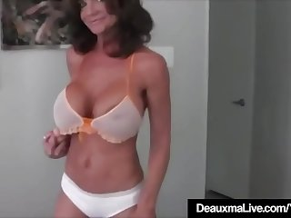 Deauxma Squirts a Puddle After Dildo Banging Twat HD