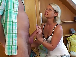 Hot Blonde Mom Grants Stepson's Wish For Sex