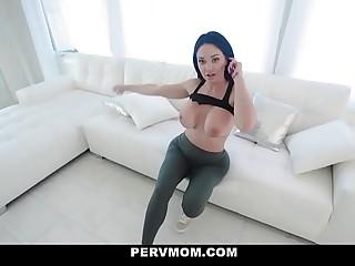PervMom - MILF Slides Open Her Slit For Stepsons BWC
