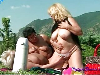 BBW grannies in lesbian action licking some old mature pussy with there lips and lapping tongues