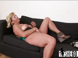 Busty mature Sarah gets fucked by black stud