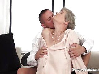 Enjoying a mature granny