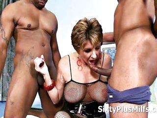 Black Dudes Smashed a Mature Whore
