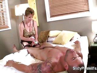 Mature slut with big tits gets fucked