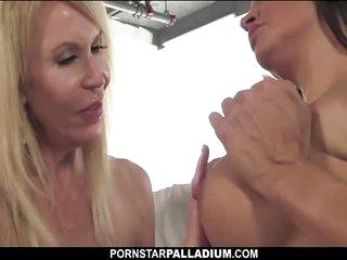 Pornstar Palladium Mature Lesbo Licks Big Tits And Cunt