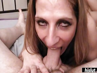 Mature lady wants a mouthful of white cream