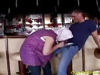 Dirty old granny gets fucked hard in her old pussy and cum shot all over her face...