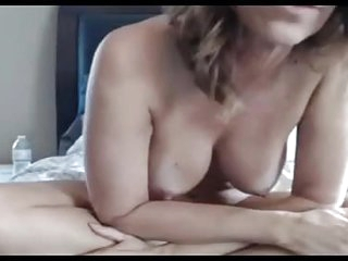Jenna 44 spreading hairy pierced pussy on webcam